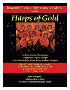 Bowdoin Chorus Presents 'Harps of Gold'