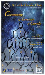 St. Cecilia Chamber Choir Presents Christmas Lessons & Carols Concert on Dec. 7 and 8
